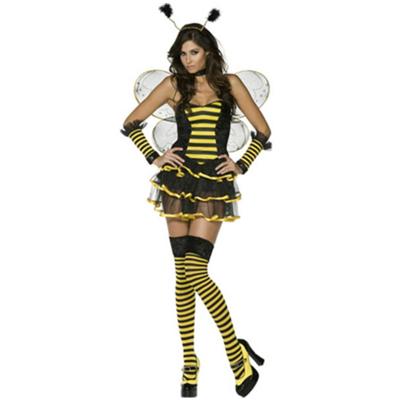 Venta-caliente-Negro-Y-Falda-de-Tul-En-Capas-Vestido-Rayado-Amarillo-font-b-Bee-b