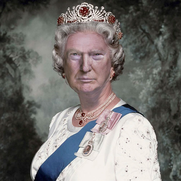 Funny-donald-trump-queen-elizabeth-photohop-trumpqueen-17-584a7624aa873__700