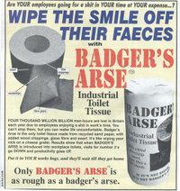 Badgersarsetoiletpaper